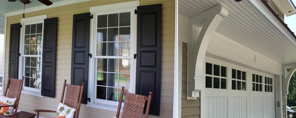 Duration Moulding & Millwork, TruExterior polyash trim, shutters, soffit, brackets