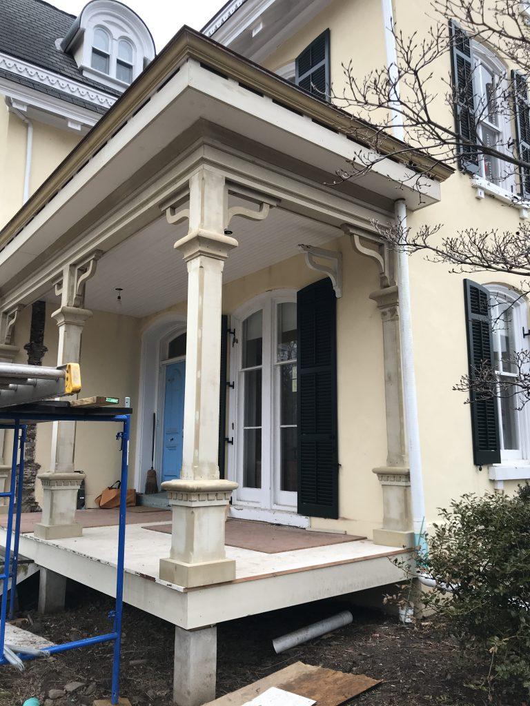 Gothic porch restoration with Boral TruExterior